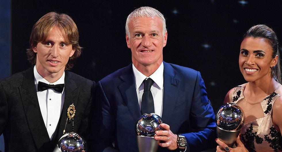 Didier Deschamps, campeón del mundo con Francia en 2018, ganó el premio ese mismo año. (Foto: AFP)