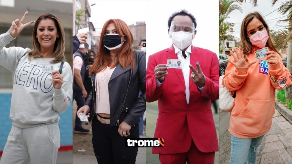 Elecciones 2021: Figuras de Chollywood votaron en la segunda vuelta. (Fotos: Trome)