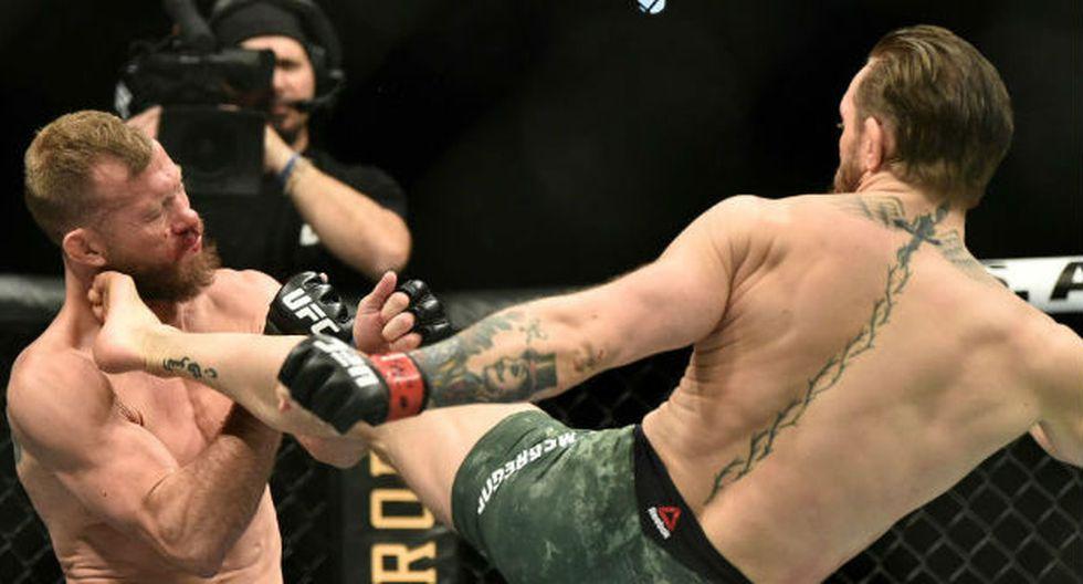 Tremenda victoria del 'Notorious' Conor McGregor. (Foto: Agencias)