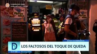 Fiestas con cervezas, negocios y ambulantes: Intervienen a personas que incumplen Toque de queda