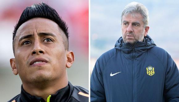 Christian Cueva y Hamza Hamzaoglu ya tuvieron sus diferencia el pasado octubre, cuando el peruano fue cambiado en la primera parte