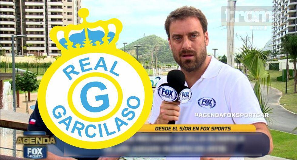 Reportero Fox Sports pide ser mascota de  Garcilaso