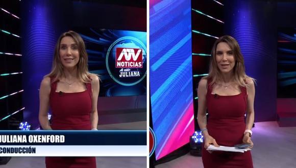 Juliana Oxenford señaló estar muy emocionada de volver a la conducción de su espacio televisivo. (Foto: Captura de ATV).