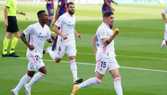 Gol de Federico Valverde a Barcelona en el Camp Nou