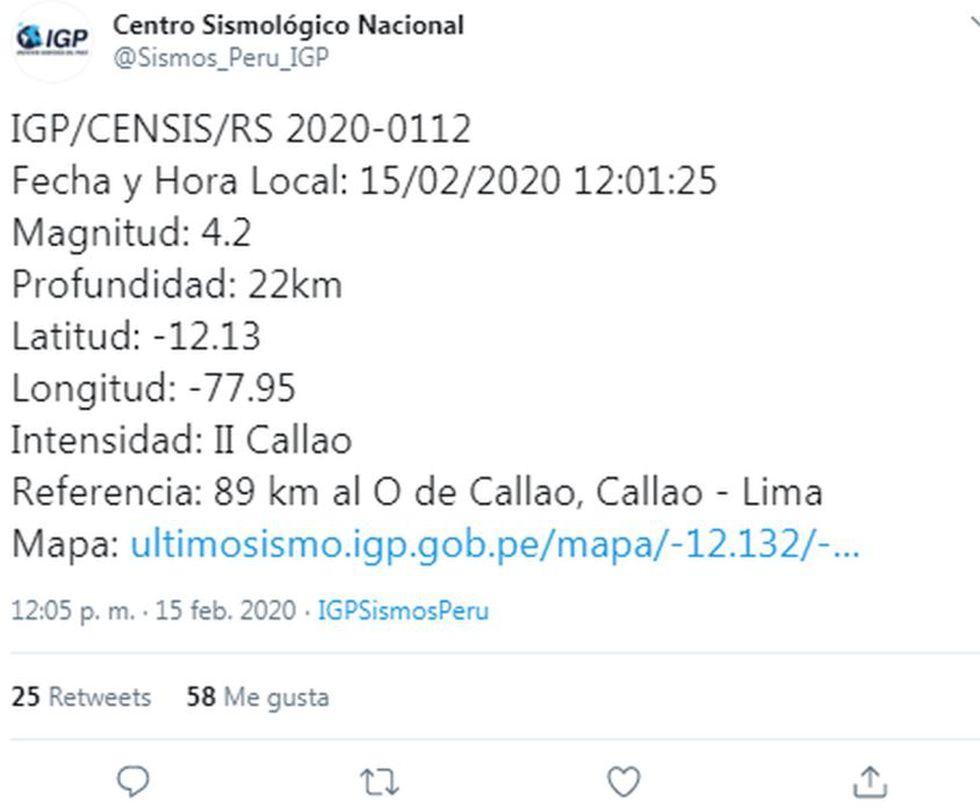 Temblor en el Callao alarmó a los limeños | TROME