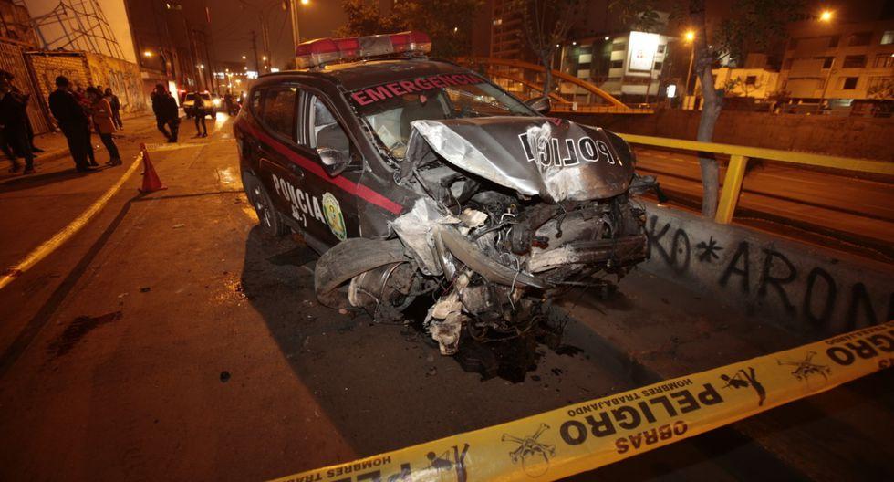 En el vehículo iban a bordo otros dos miembros que resultaron ilesos.(Foto: Kevin García)