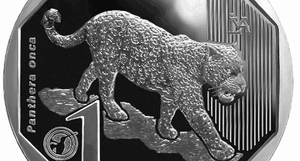 Moneda alusiva al jaguar. (Foto: BCR)