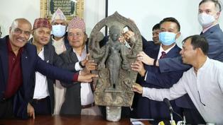 Nepal recupera estatua de 800 años de antigüedad