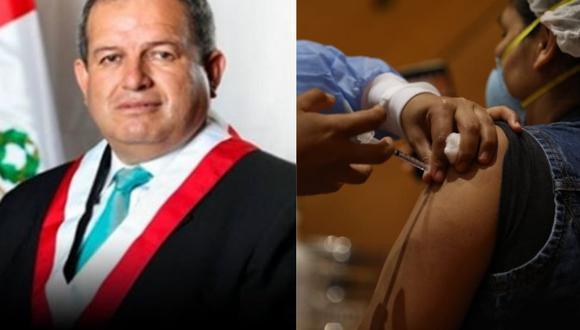 Napoleón Vigo pide que parlamentarios sean vacunados primero