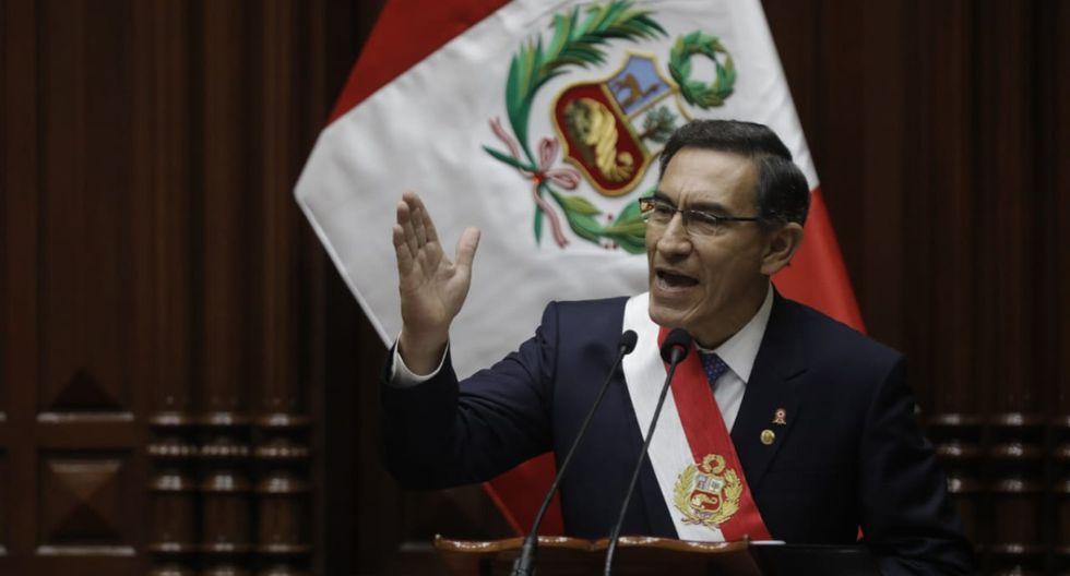 Presidente Martín Vizcarra: Mensaje a la Nación (Foto: GEC)