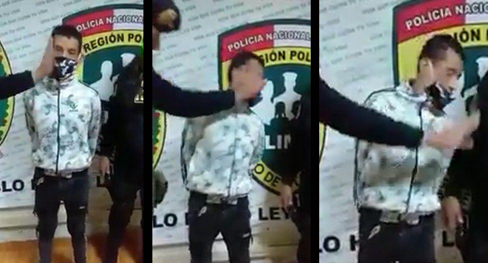 El Agustino: Policía abofetea dos veces a detenido en la comisaría de San Cayetano   VIDEO