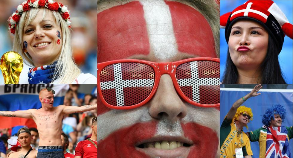 Dinamarca vs Australia: Hinchas pusieron el color y la belleza en las tribunas del Samara Arena [Foto: Agencias]