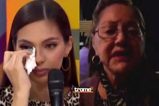"""Natalie Vértiz es sorprendida por su abuelita y se emociona: """"Mi 'mamalucha' es la que sostiene a todos"""""""