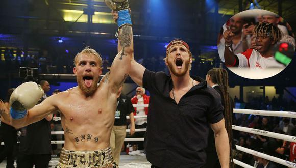 Jake Paul y Logan Paul celebraron la victoria y KSI aceptó el desafío. (Agencias)