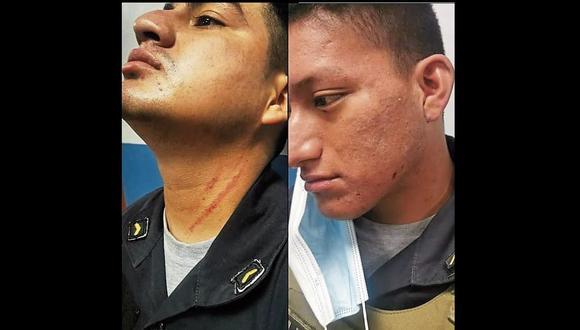 Piura: Dos de los agresores, entre ello un menor de edad, fueron intervenidos y trasladados a la comisaría de Piura.