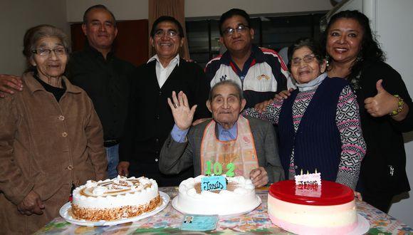 Ancashino don Jesús Bonifaz cumplió 102 años