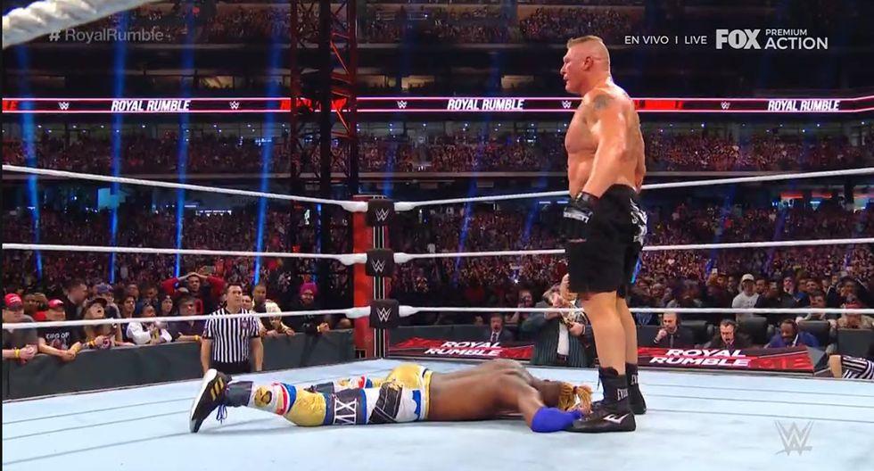 Drew McIntye eliminó a Brock Lesnar, Roman Reigns y Seth Rollins. (Captura TV)