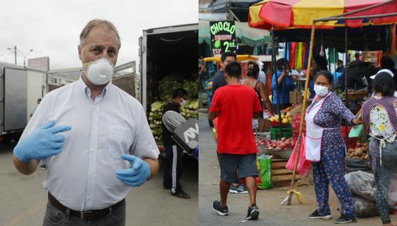 Jorge Muñoz, alcalde de Santa Anita, alcalde de La Victoria y primer ministro decidirán situación de los informales de La Parada | GEC | TROME