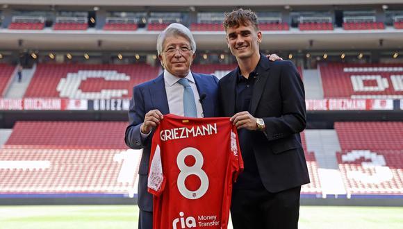Griezmann fue presentado en el Atlético de Madrid. (Foto: Atlético de Madrid)
