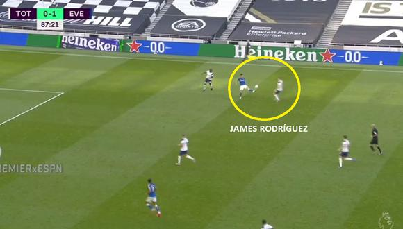 Sombrero de James Rodríguez en Everton vs Tottenham por Premier League