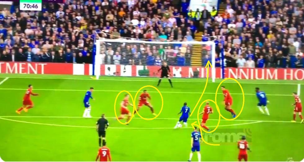Chelsea descuenta ante Liverpool con este golazo de Kante