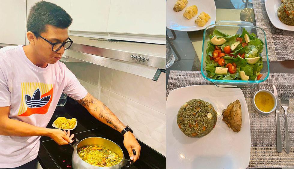 Rinaldo Cruzado preparó un clásico arroz con pollo. (Foto: Alianza Lima)