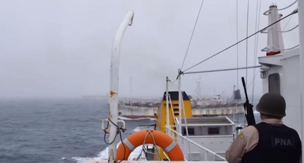 Guardacostas de Argentina persiguen a barco ilegal chino