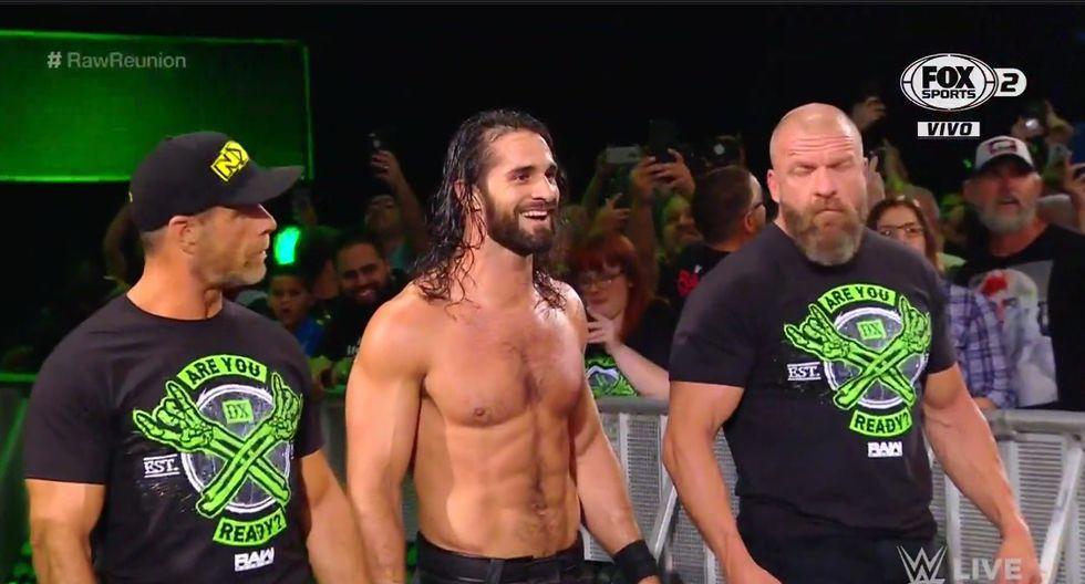 Dos de las facciones más importantes en la historia de la lucha libre unieron fuerzas con Seth Rollins. (Captura Fox Sports 2)