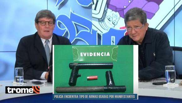 Rafael Rey y José Barba usan fotos falsas para asegurar que los manifestantes en Perú tenían 'armas caseras'