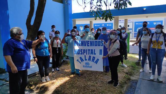 Personal médico y de enfermería arribaron al nosocomio. (Foto: EsSalud)