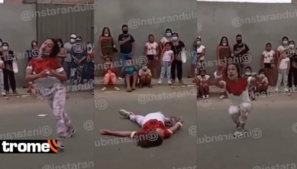 'Dayanita' realiza show cómico en calles de Chincha, pero la gente se aglomera