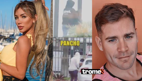 Paula y Pancho fueron captados totalmente encapuchados al salir de depas.
