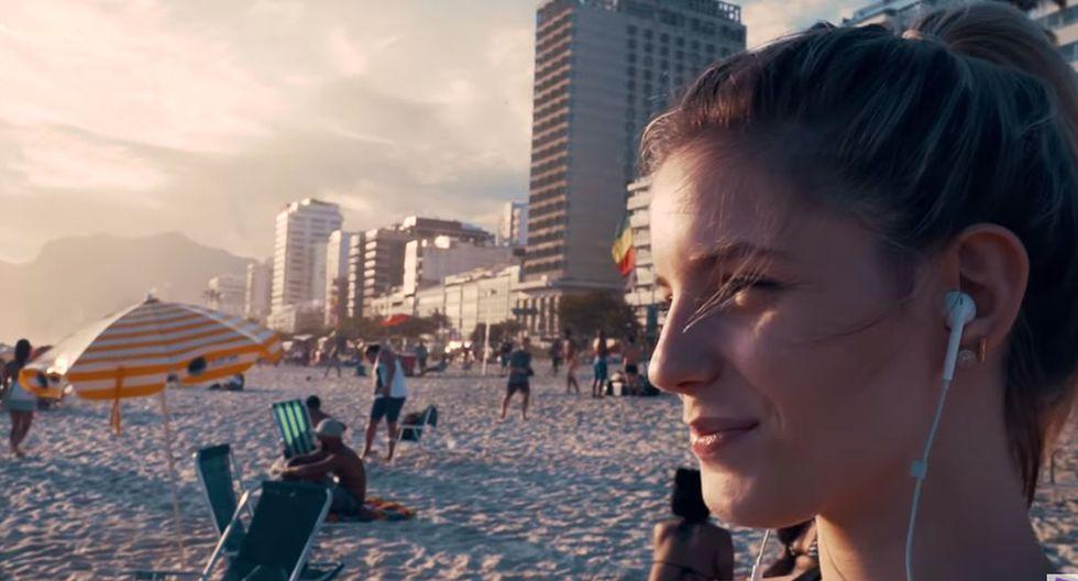 Finalmente, Thaísa Leal apareció corriendo por las playas de Brasil. (Foto: Captura de YouTube)