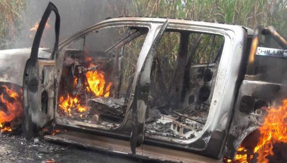 Ayacucho. Patrulla policial fue emboscada por terroristas de Sendero Luminoso en la zona del Vraem. (PNP)