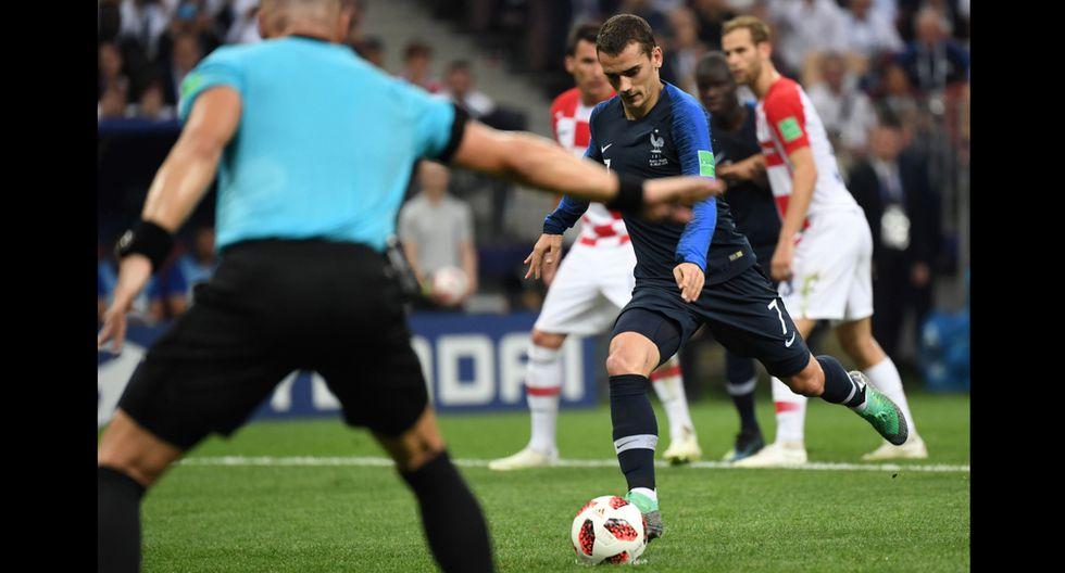 Gol Antoine Griezmann en la final del Mundial Rusia 2018.