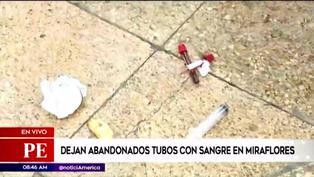 Dejan abandonados tubos con muestras de sangre y jeringas en calle de Miraflores