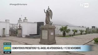 Día de todos los Santos: Cementerios Presbítero Maestro y El Ángel no atenderán este 1 y 2 de noviembre