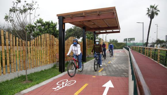 La ciclosenda del malecón Bernales tiene un tratamiento especial por ser una vía compartida. Foto: Municipalidad de San Isidro