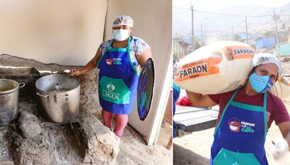Hace unas semanas, el apoyo llegó a las ollas comunes Villa Mosha y Semillitas, ambas en San Juan de Lurigancho.