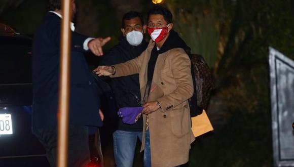 La llegada de Gianluca Lapadula al hotel de concentración de la selección peruana. (Fernando Sangama / GEC)