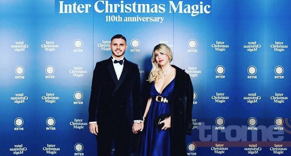 Wanda Nara se roba el show en la fiesta de Navidad del Inter de Milan