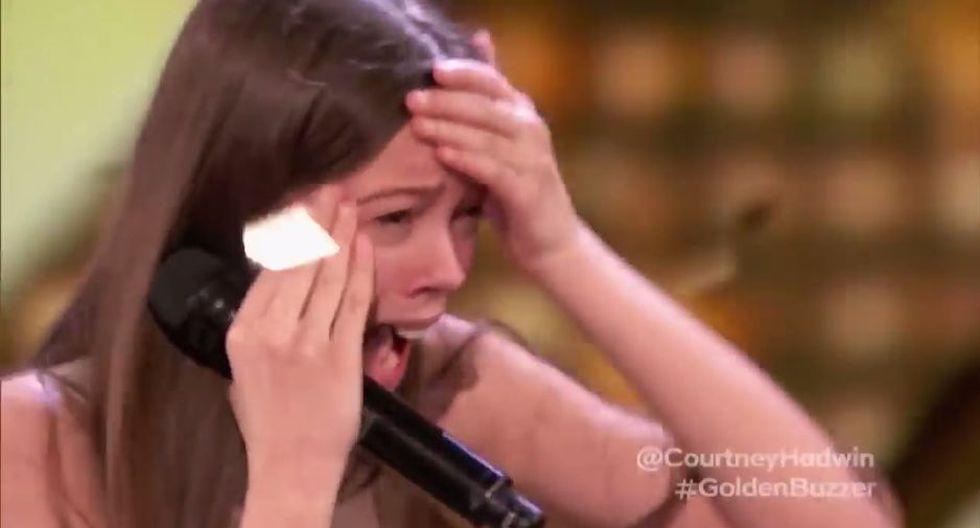 Courtney Hadwin sorprendió a todos con su voz. (Captura)