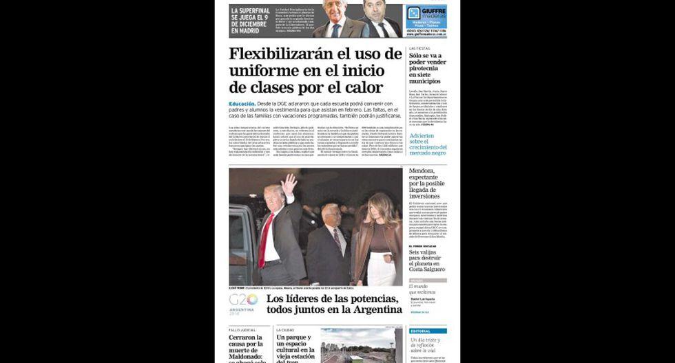 La reacción de los medios por el River-Boca en las portadas del 30 de noviembre. (Foto: captura)