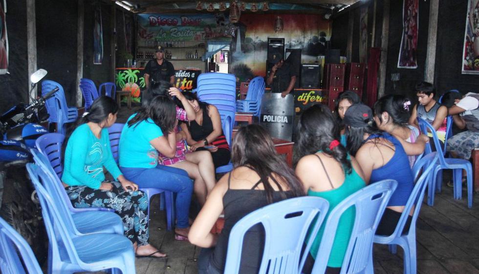 Rescatan a 18 extranjeras víctimas de explotación sexual y laboral en balneario de Zorritos. FOTO: Andina