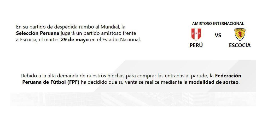Perú vs Escocia: Conoce la nueva modalidad de venta de entradas ¡Sigue paso a paso! | FOTOS | VIDEOS