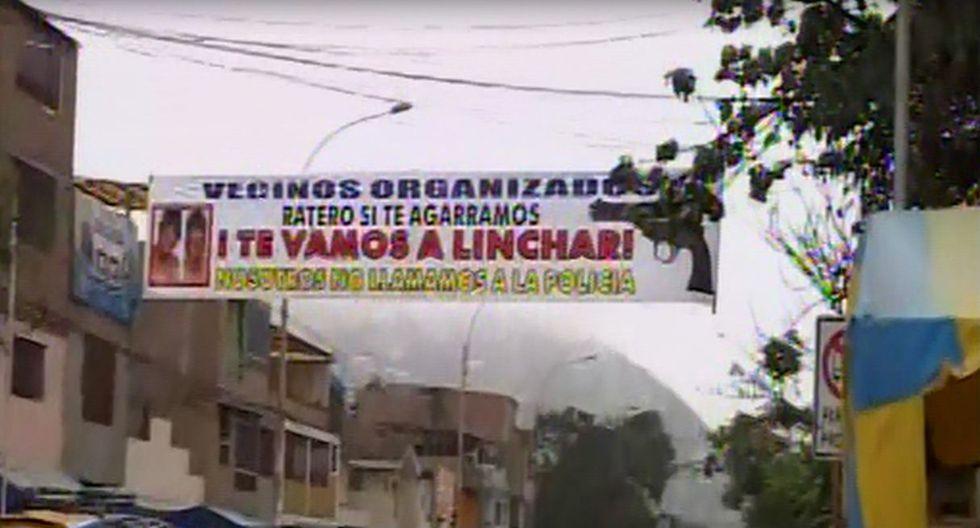 Hartos de los robos, vecinos se organizan y amenazan a ladrones con lincharlos. Foto: Captura de Canal N