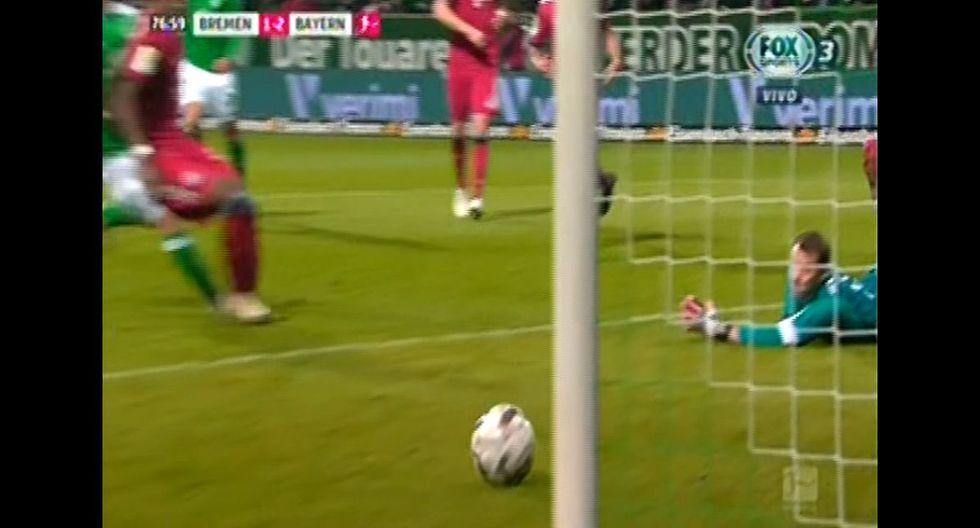 Claudio Pizarro dio espléndido pase gol, pero Kruse falló en Werder Bremen vs Bayern Múnich por Bundesliga