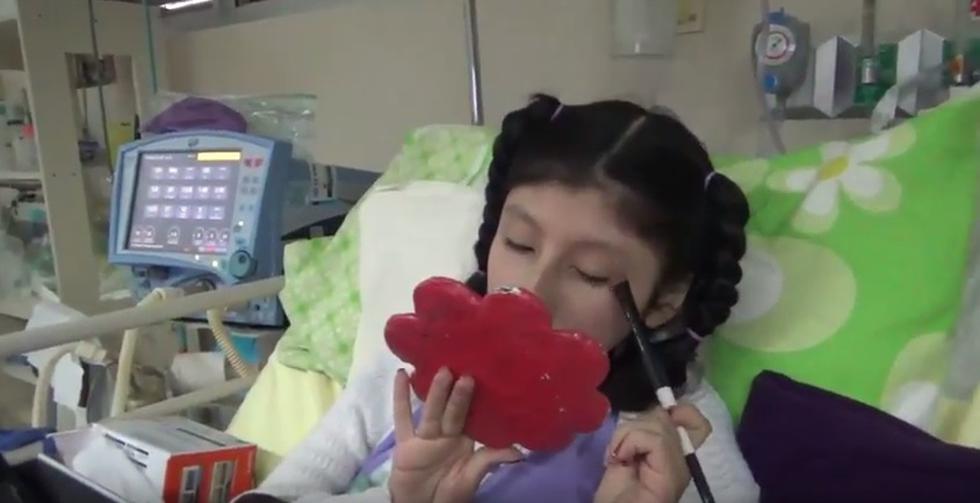 Analí, la La 'youtuber del Hospital del Niño'. (ATV Noticias)