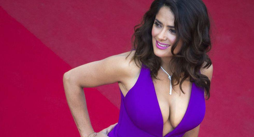 La actriz de 50 años Salma Hayek.