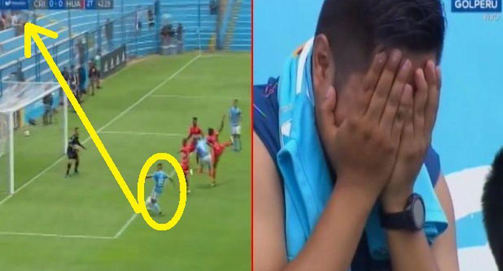 Sporting Cristal Sport Huancayo: José Inga falla gol increíble y fanático casi llora era el triunfo Videos Virales